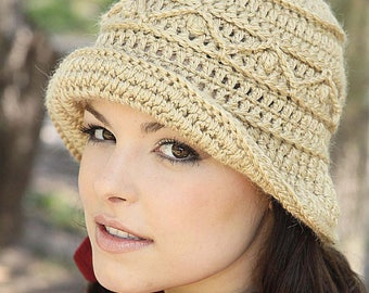 Crochet hat PATTERN, casual crochet hat pattern, CHART and basic instructions in English, charts are not interpreted in words!