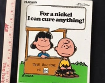 Playskool - Peanuts (Lucy & Charlie Brown) Puzzle - 230-18 * 7 Pieces - I Can Cure Anything - 1952