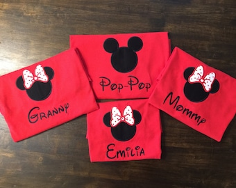 Disney Trip Family Shirt // Minnie Mouse Mickey Mouse Shirt for Disney // Disney Trip Shirt // Monogrammed Disney Shirt // Family Shirts