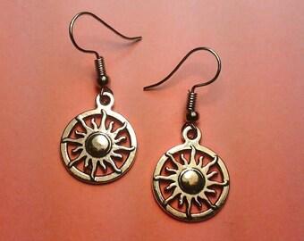 Silver Sun Earrings