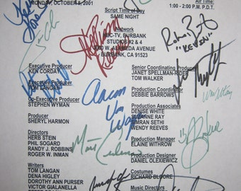 Days Of Our Lives Cast Signed TV Script Screenplay Soap Opera autographs cast signatures