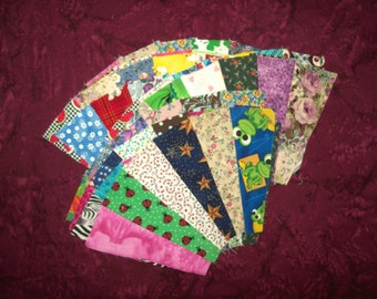 Set of 12  'scrappy  'Grandmother's Fans'  to use for quilt blocks - REDUCED PRICE