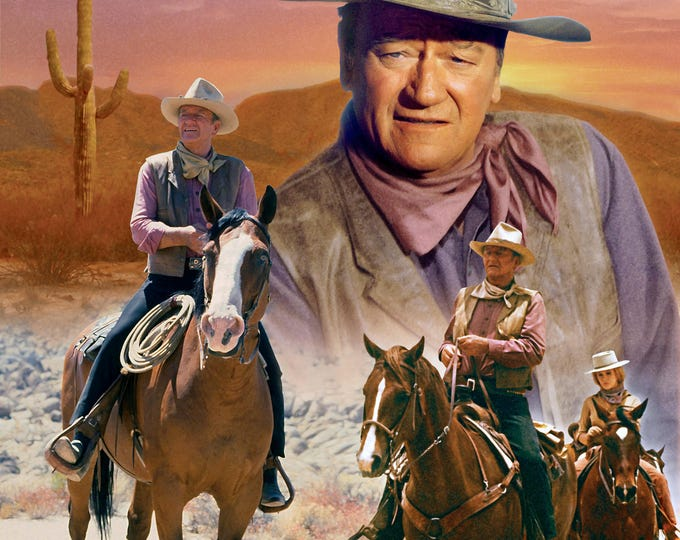 Beautiful John Wayne Montage Showcasing Great Roles - 8X10 or 11X14 Photo (FB-449)