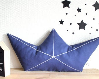 Cushion origami boat