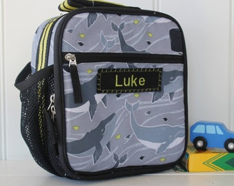 Lunch Bag With Monogram Pottery Barn Classic  -- Gray Whale