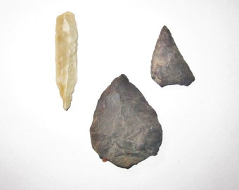 3 Lithic Tools from Prehistoric Stone Age Europe - Unresearched Lot From Antiquities Estate
