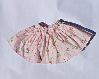 SALE Pink Skirt Girl - Pink Bunnies Cream Skirt - Girl Cute Skirt - SALE Skirt Girls Size 18-24m 2T - Ready to Ship - Toddler Infant Baby
