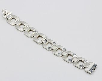 Sterling Silver Hermes Geomtric Link Bracelet