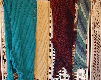 Pattern for Trinket Shawl and Scarf Lace Ruffle Knit Scarf Shawl Pattern