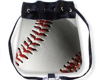 Baseball Backpack-Baseball Cinch Bag-Baseball Drawstring Bag-Boho Bag-Baseball Sling Bag-Messenger Bag-Drawstring Purse-Baseball Purse