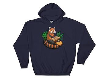 Red Panda Sushi - Red Panda Hoodie - Red Panda Sweatshirt - Sushi Sweatshirt - Red Panda Gift - Sushi Lover Gift  - Red Panda Lover
