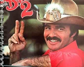 """for the  Burt Reynolds """"Smokey and the Bandit"""" 70s car chase  FAN!  Album Cover Notebook /rare Vinyl!"""