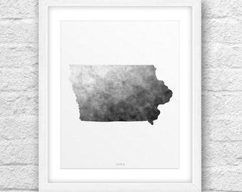 Iowa Map, Iowa Print, Iowa Art, Iowa State, Iowa Design, Minimalist Art, Iowa Printable,Instant Download, ModernArt, Iowa Modern Art