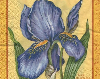 3271 lot 4 branch blue iris paper napkins