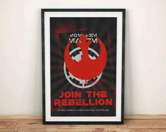 Join the Rebellion! Poster - Star Wars Artwork