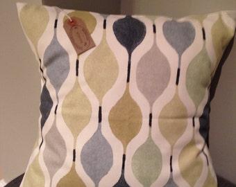 "Designer prestigious VERVE grey blue cushion cover 16"" 45 x 45"