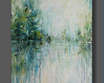 Oil Landscape Painting Original Abstract Artwork Palette Knife Modern Art Art Painting Living Room Art Gift for Her