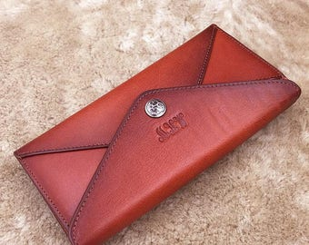 Bridesmaid Gift, Leather Clutch Woman, Leather Purse  for Bridesmaid, Leather Wallet, Wedding Clutch, Bridesmaid Clutch