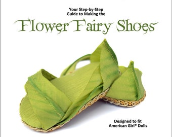 Flower Fairy Shoes for 18 Inch dolls - PDF