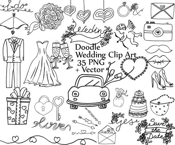 Doodle wedding clipart: WEDDING CLIP ART wedding