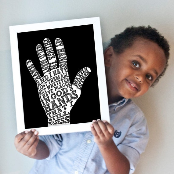 Hand print - quote by Martin Luther