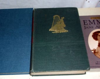 Set of 3 Jane Austen books EMMA, Pride and Prejudice and The Language of Jane Austen Collectible Set Favorite Author Collection