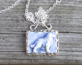 Sterling Silver Collie-Sheltie Necklace
