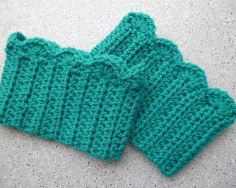 Jambières pour bottes en laine au crochet réalisées à la main. Jambières au crochet. Manchettes. Fait main.
