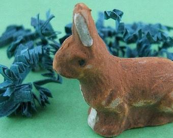 Hand-Painted Vintage German Chalk Bunny - Pre WW2