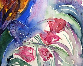 Seed Scatter - Original Abstract Watercolour painting