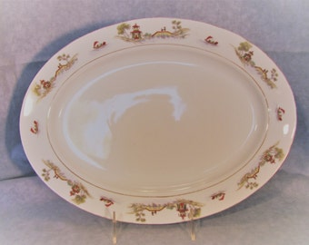 "Noritake ""The Pagoda"" Serving Platter 14"" from 1912"