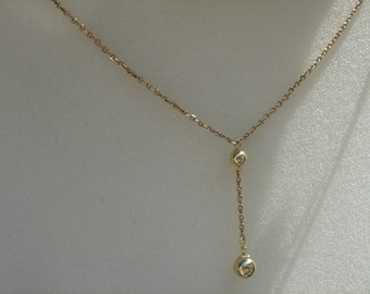 Gold chain, Y gold 585 (14 K) with ball!