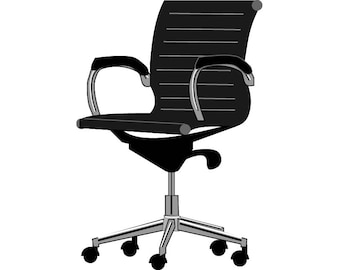 mid aluminum office chair white italian. Office Chair Wheels Comfortable Furniture Silla De Oficina .SVG .EPS .PNG Vector Space Mid Aluminum White Italian