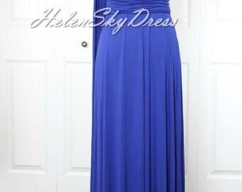 Bridesmaid Dress Royal blue Convertible Dress / infinity dress/ one shoulder bridesmaids dress
