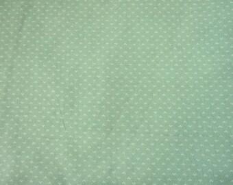 Cotton Calico Aqua Green print/ Quilting/dress/decorating/ VIP Print