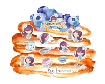 Blueberry Pancakes Please - Deco Stickers