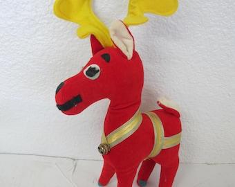 Dream Pets Reindeer Dakin Reindeer Velvet Reindeer Mid Century Christmas