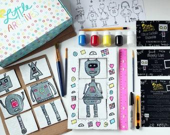 Kids Arts and Craft Kit-Mix N Match Robots