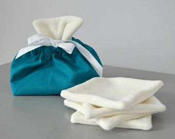 Wipes pouch - Washable wipes and washable X 5