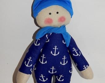 First doll, Baby rag doll, Baby's First Doll, Baby Doll, Organic Soft Toy, Rag doll, Doll for baby, boy doll