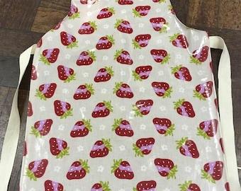 Child's Strawberry Oilcloth Apron