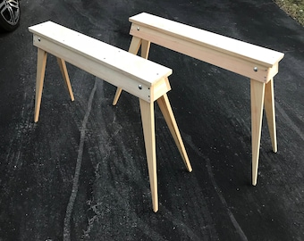 The Home Horse Wooden Folding Sawhorse Set of 2