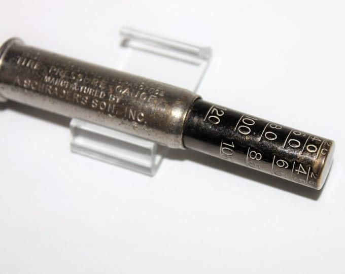 Antique 1922 Schrader Universal Tire Pressure Gauge