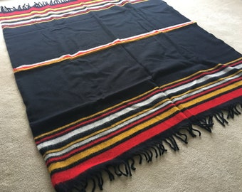 Vintage Faribo Pak-A-Robe. Throw Blanket. Stadium Blanket. New in Case. Black. Red. Yellow. White.