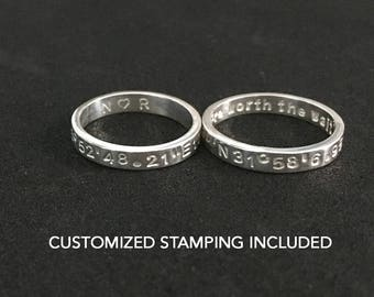 Long Distance Relationship, His and Her Promise Rings, Promise Rings For Couples, Promise Ring, Couple Rings, Gift For Girlfriend, Boyfriend