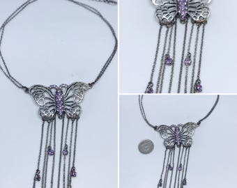 Vintage Pilgrim necklace with Butterfly
