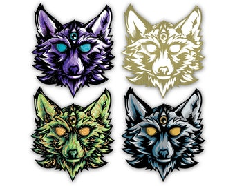 Wolf Totem - Vinyl Sticker