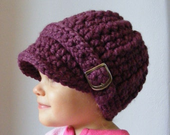 5 Sizes Purple Hat Baby Hat Baby Girl Hat Toddler Hat Toddler Girl Hat Womens Hat Baby Beanie Toddler Beanie Womens Beanie Purple Plum