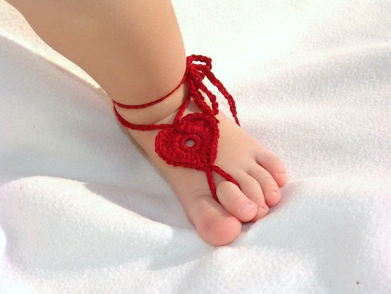 2 pairs baby heart barefoot sandals foot decoration baby for Baby feet decoration