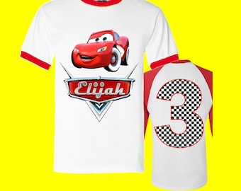 Disney Cars Birthday Shirt - Cars Birthday Shirt
